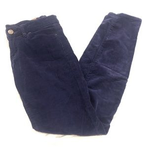 BDG Corduroy Mid Rise Cigarette Skinny Pant Blue